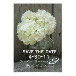 Hydranges & Barnwood Wedding Save The Date 9 Cm X 13 Cm Invitation Card