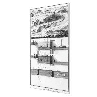 Hydraulic, canal and locks canvas print