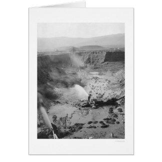 Hydraulic Gold Mining Alaska 1912 Greeting Card