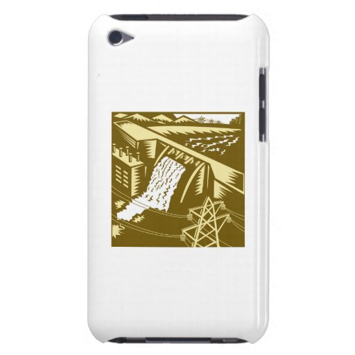 Hydroelectric Hydro Energy Dam Woodcut Case-Mate iPod Touch Case
