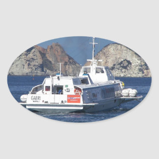 Hydrofoil In Italy Oval Sticker
