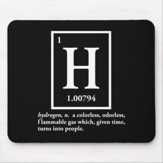 hydrogen - a gas which turns into people mouse mat