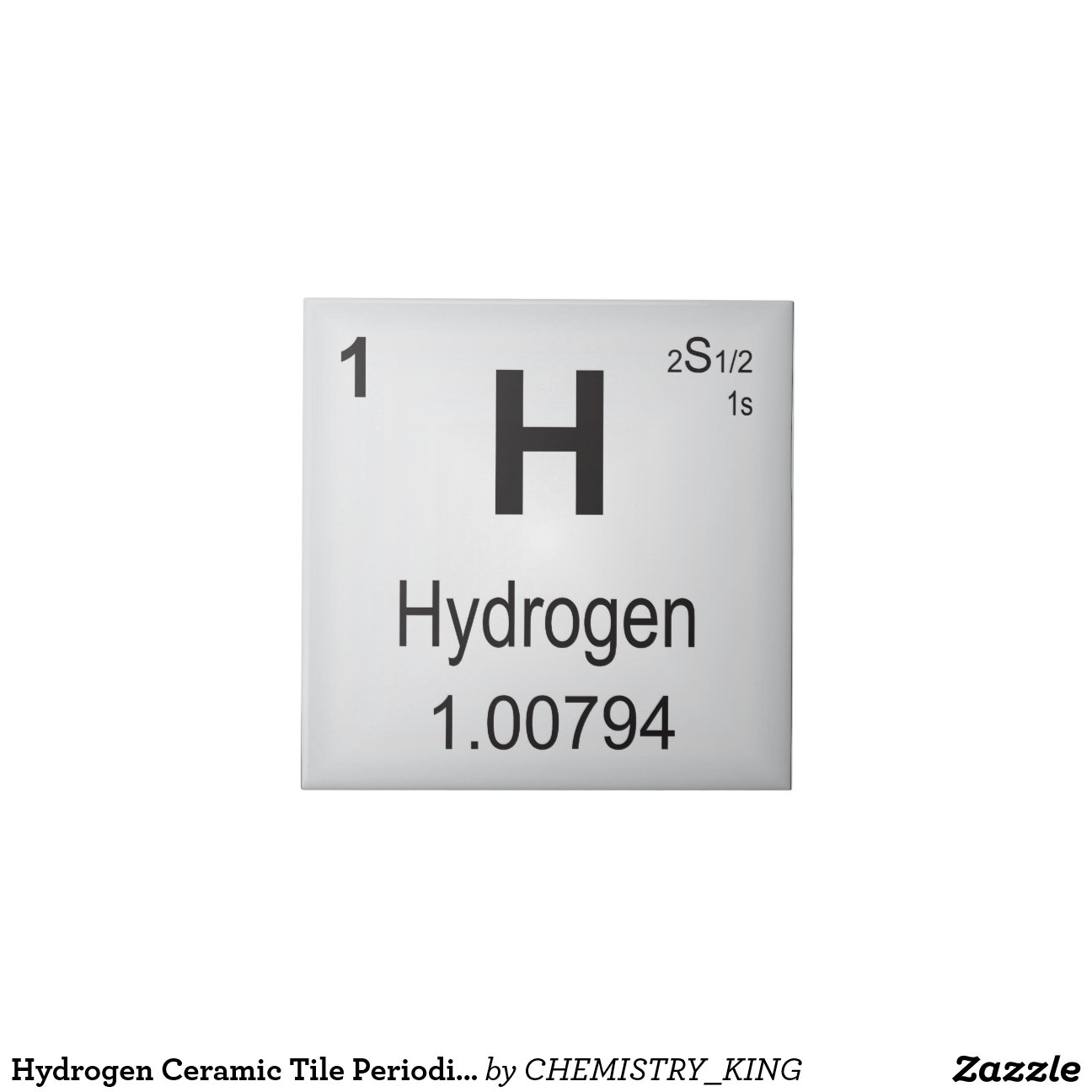 Hydrogen ceramic tile periodic table of elements zazzle - Hydrogen on the periodic table ...