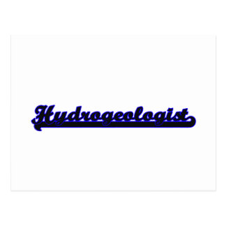 Hydrogeologist Classic Job Design Postcard