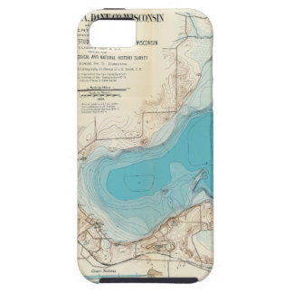 Hydrographic map Lake Mendota iPhone 5 Cover