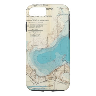Hydrographic map Lake Mendota iPhone 8/7 Case