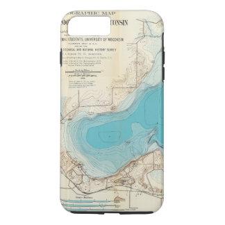 Hydrographic map Lake Mendota iPhone 8 Plus/7 Plus Case