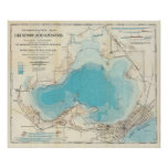 Hydrographic map Lake Mendota Poster