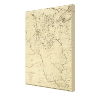 Hydrographical Basin of Mississippi River Canvas Print