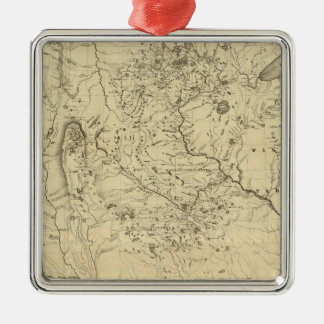 Hydrographical Basin of Mississippi River Christmas Ornament