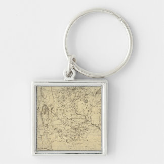 Hydrographical Basin of Mississippi River Key Ring