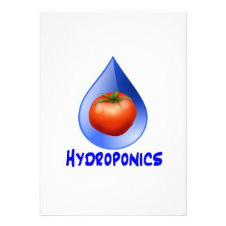 Hydroponic Tomato water drop design logo Custom Invites