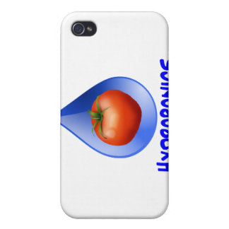 Hydroponic Tomato water drop design logo iPhone 4/4S Cases