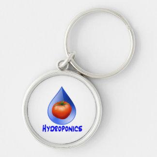 Hydroponic Tomato water drop design logo Key Chain