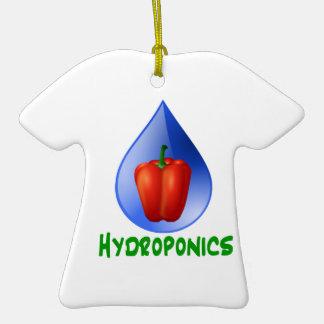 Hydroponics, Bell Pepper, drop, green text Christmas Ornament