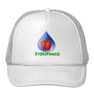 Hydroponics, Bell Pepper, drop, green text Trucker Hat