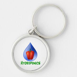 Hydroponics, Bell Pepper, drop, green text Keychains
