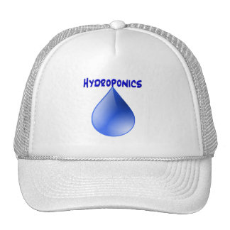 Hydroponics blue letters with blue drop graphic mesh hat