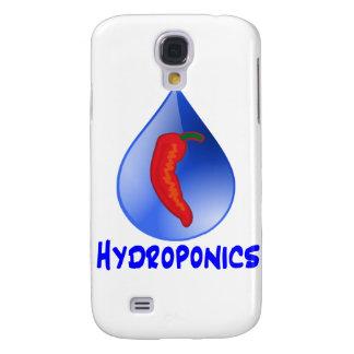 Hydroponics, chili pepper, blue text design galaxy s4 case