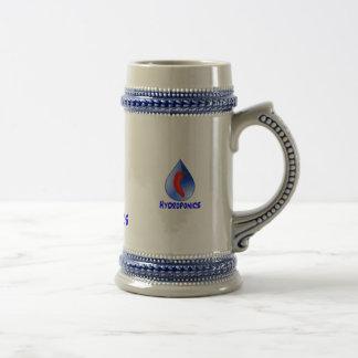Hydroponics, chili pepper, blue text design mug