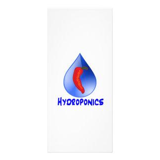 Hydroponics, chili pepper, blue text design custom rack cards