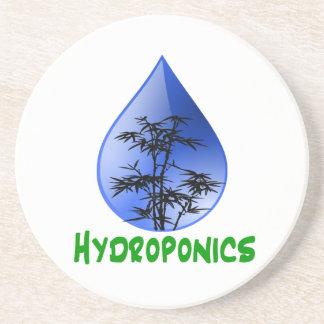 Hydroponics design-black bamboo drink coasters
