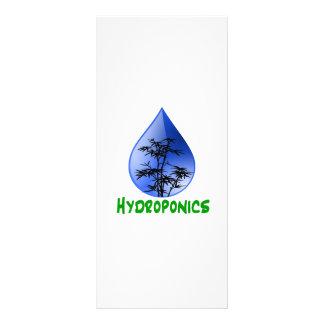 Hydroponics design-black bamboo rack card design