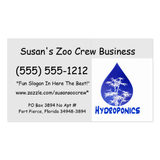 Hydroponics design , blue drop and white tree business card templates