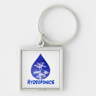 Hydroponics design , blue drop and white tree key chains