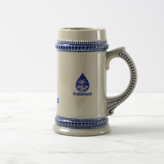 Hydroponics design , blue drop and white tree coffee mug