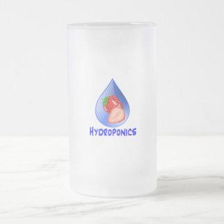 Hydroponics Design with strawberry Blue drop Coffee Mug