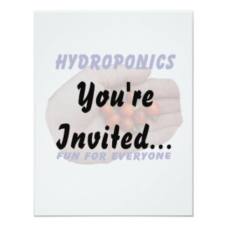 Hydroponics Fun Cascabel Hot Peppers Hand 11 Cm X 14 Cm Invitation Card