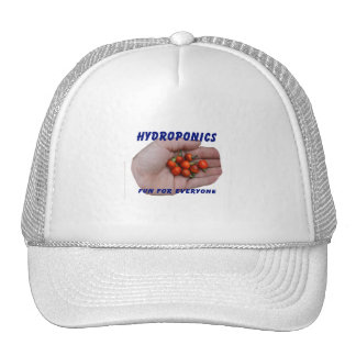 Hydroponics Fun Cascabel Hot Peppers Hand Mesh Hats
