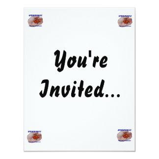 "Hydroponics Fun Cascabel Hot Peppers Hand 4.25"" X 5.5"" Invitation Card"