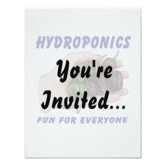 Hydroponics Fun Chocolate Habanero Peppers 11 Cm X 14 Cm Invitation Card