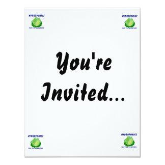 Hydroponics Fun For Everyone Lettuce Design 11 Cm X 14 Cm Invitation Card