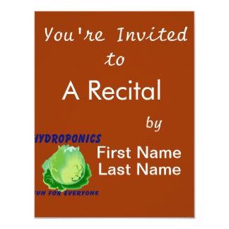 """Hydroponics Fun For Everyone Lettuce Design 4.25"""" X 5.5"""" Invitation Card"""