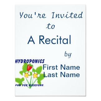 Hydroponics Fun For Everyone Strawberries 4.25x5.5 Paper Invitation Card