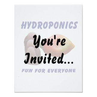 "Hydroponics Fun Habanero Pepper Flame Fingers 4.25"" X 5.5"" Invitation Card"