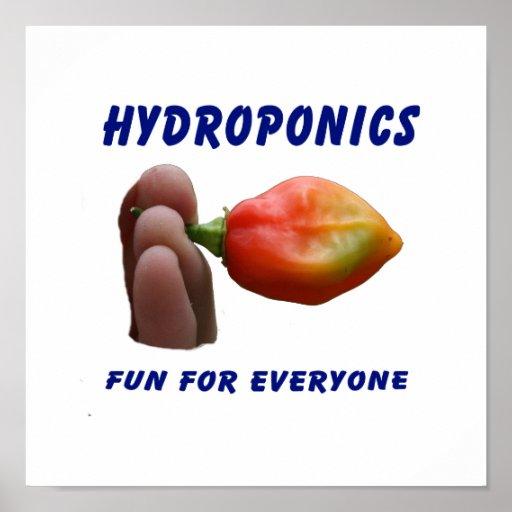 Hydroponics Fun Habanero Pepper Flame Fingers Posters