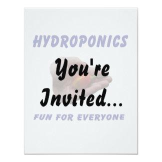 Hydroponics Fun Habanero Pepper in Hand Design 11 Cm X 14 Cm Invitation Card