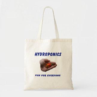 Hydroponics Fun Habanero Pepper in Hand Design Tote Bags