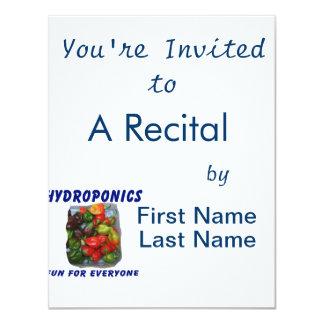 """Hydroponics Fun Hot Pepper Pile Canvas Filter 4.25"""" X 5.5"""" Invitation Card"""