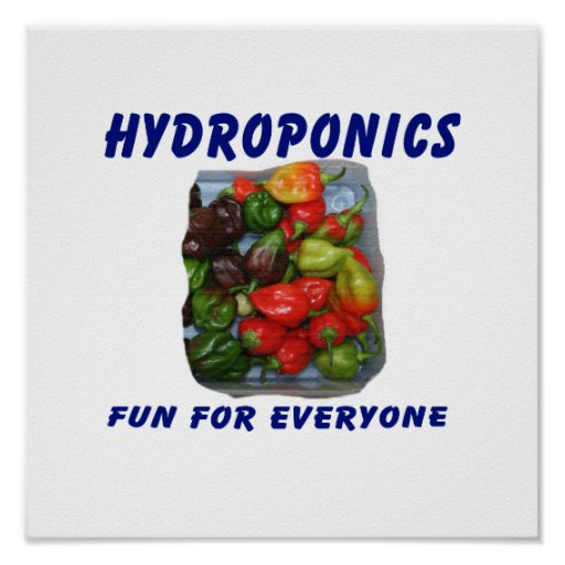 Hydroponics Fun Hot Pepper Pile Canvas Filter Posters