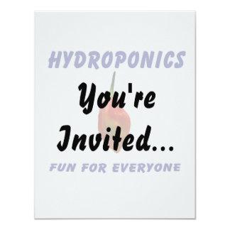 """Hydroponics Fun Single Habanero Pepper Design 4.25"""" X 5.5"""" Invitation Card"""