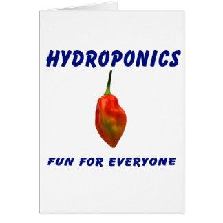 Hydroponics Fun Single Habanero Pepper Design Note Card