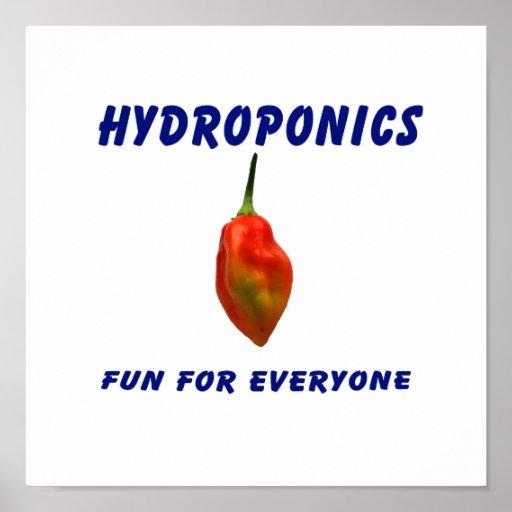 Hydroponics Fun Single Habanero Pepper Design Print