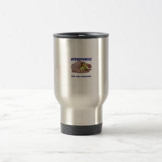 Hydroponics Fun White Habanero Peppers Hand Coffee Mug