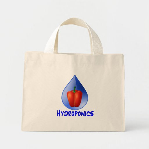 Hydroponics graphic, hydroponic pepper & drop canvas bags