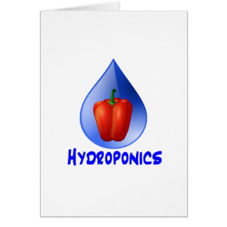Hydroponics graphic hydroponic pepper drop greeting card